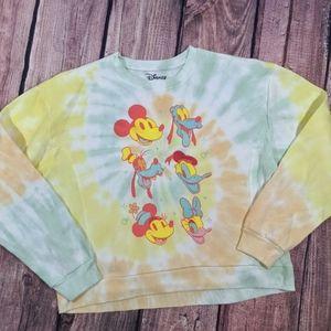 Disney tye dye crew neck sweater